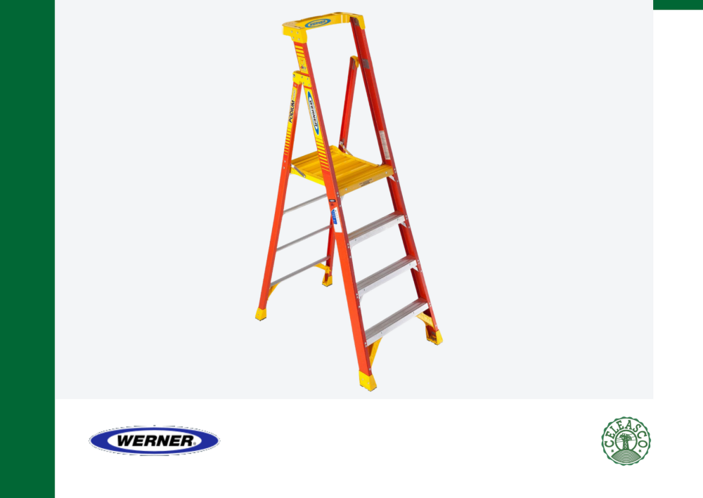 10Ft Reach Height Fiberglass Podium Ladder 4Ft Type IA PD6204