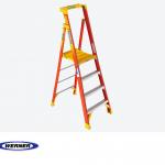 10Ft Reach Height Fiberglass Podium Ladder 4Ft Type IA PD6204