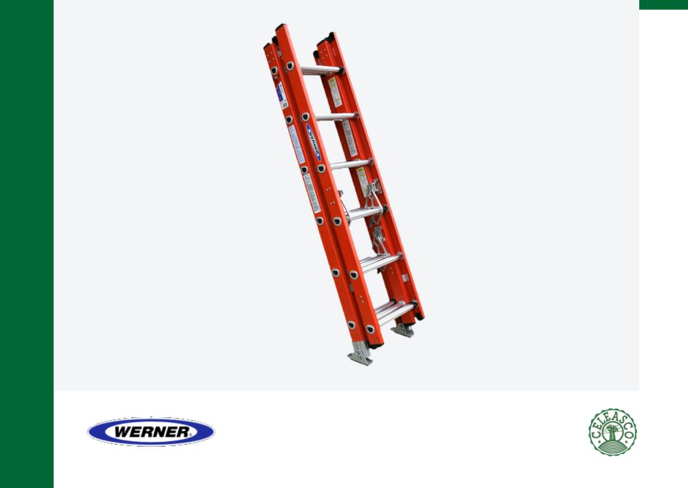 16Ft Type IA Fiberglass D-Rung Extension Ladder D6216-3