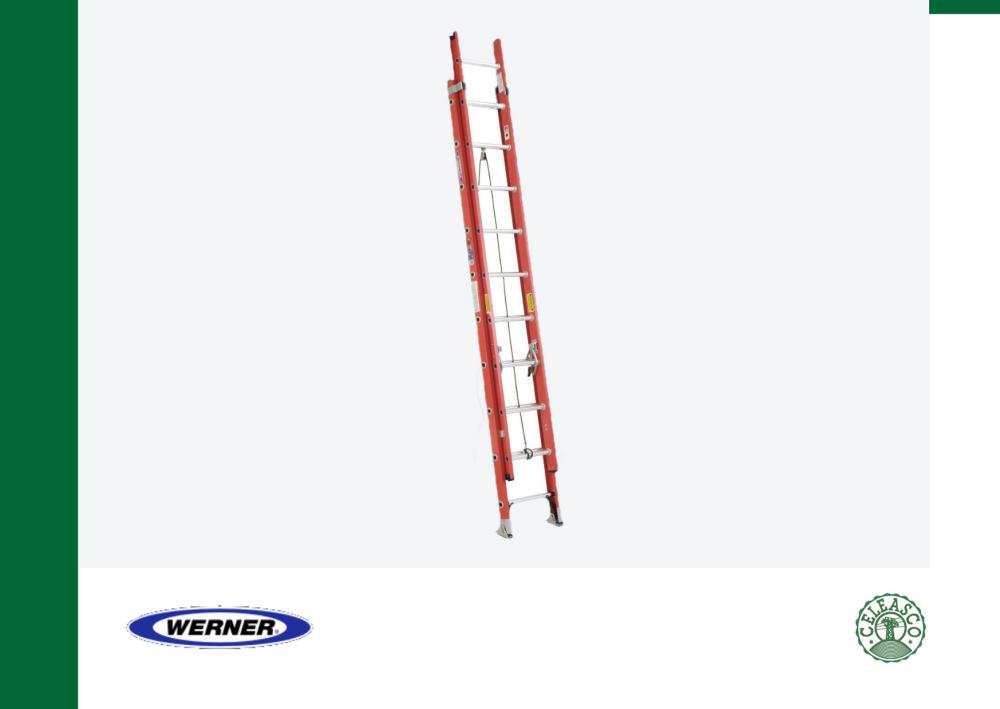 20Ft Type IA Fiberglass D-Rung Extension Ladder D6220-2
